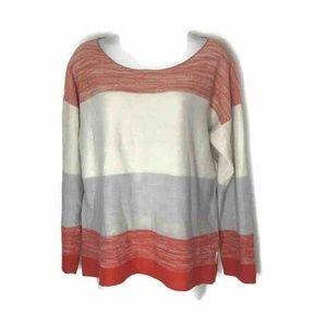 Calvin Klein Jeans Womens Sweater Ivory Orange XL